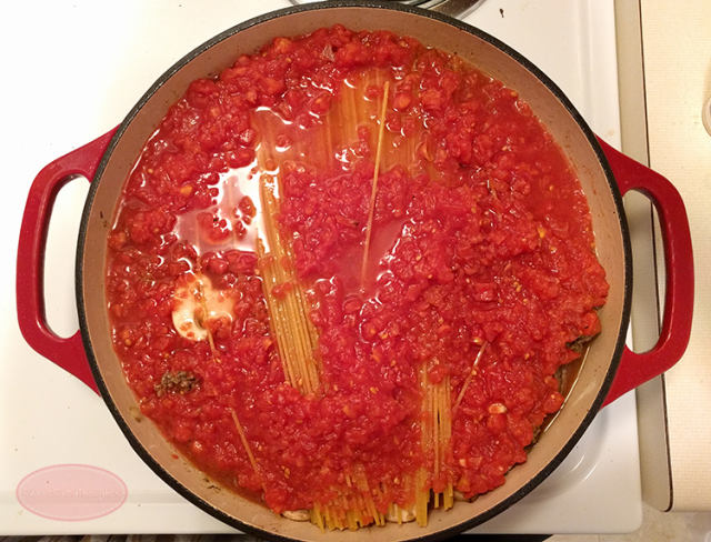 A family favorite: One-Pot Spaghetti with Meat Sauce (30 minute meal)